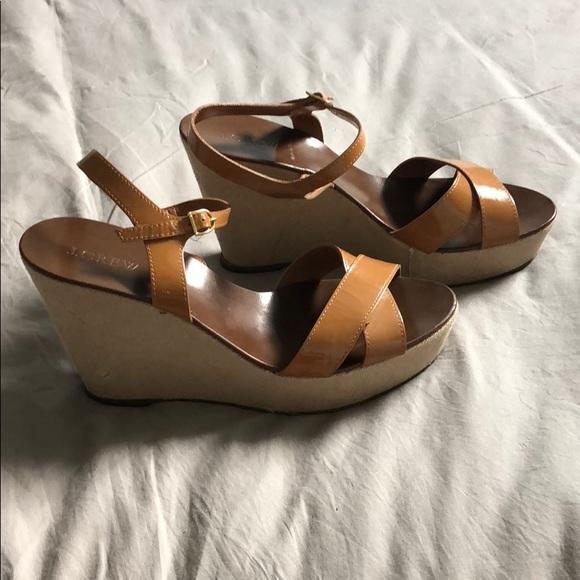 J. Crew Shoes - JCrew brown wedges
